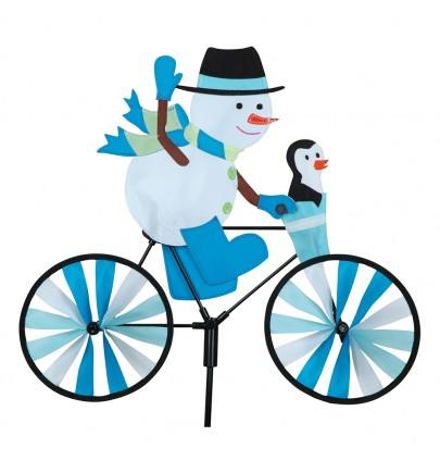 BIKE SPINNER SNOWMAN