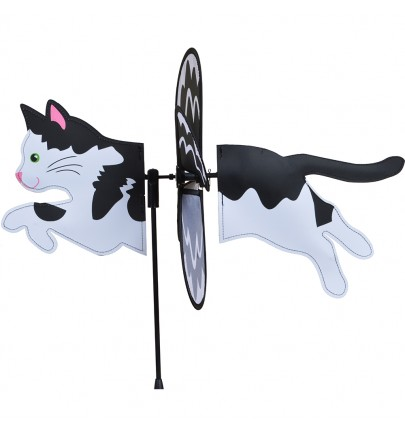 PETITE SPINNER - BLACK & WHITE CAT