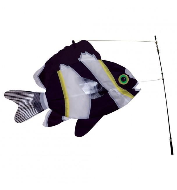 SWIMMING FISH - BLACK & WHITE