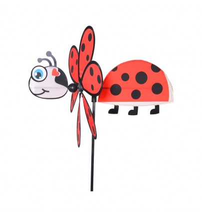 GIROUETTE COCCINELLE ROUGE 36 CM