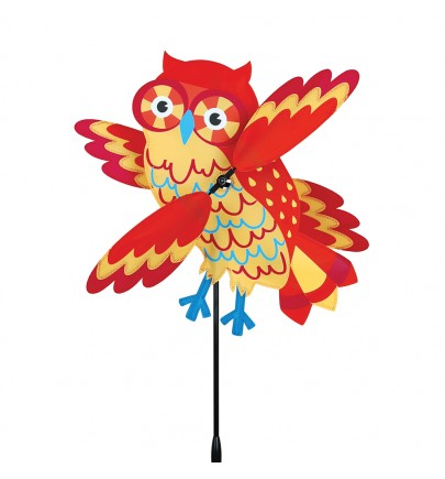 WHIRLIGIG - 17 IN. ORANGE OWL