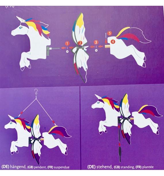 Petite UNICORN cheval Licorne 2 en 1
