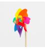Moulin Rainbow 14 cm manche en bois