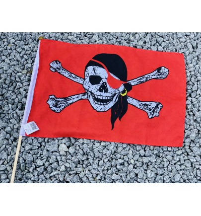 Drapeau pirates rouge